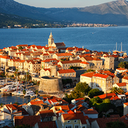 <p>The Croatian island of Korcula in the Adriatic Sea is home to numerous scenic coastal villages. // © 2014 Thinkstock</p><div></div>