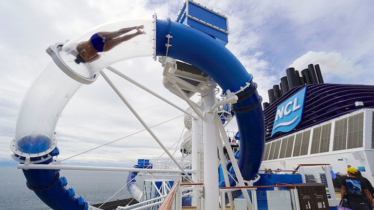 Thrill-seeking clients will be sure to love the the Ocean Loops waterslide.