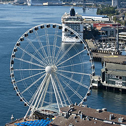 <p>Norwegian Cruise Line Holdings ships can now sail from the Port of Seattle. // © 2015 Port of Seattle</p><p>Feature image (above): Seattle's ports...