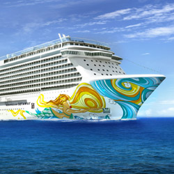 The Miami-themed Norwegian Getaway is among Norwegian Cruise Line's newer ships. // © 2014 Norwegian Cruise Lines