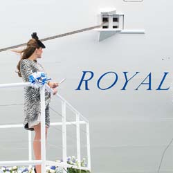 The Duchess of Cambridge at the christening on June 13 // © 2013 Princess Cruises
