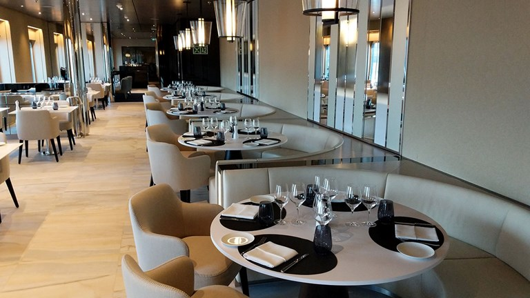 Elements is the ship's main restaurant, offering Italian dishes, steaks and seafood.