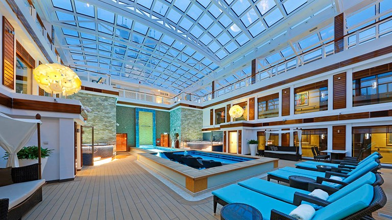 The Haven by Norwegian includes special access to a courtyard area with a pool, whirlpools and sundeck on select ships.