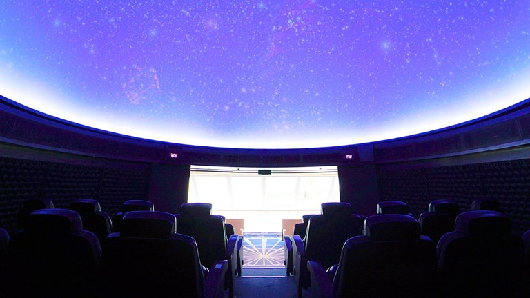 The Explorers Dome planetarium is a new feature.