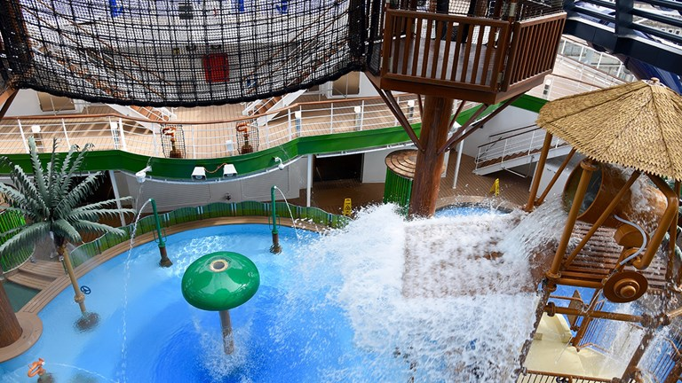 Forest Aquaventure is just one of many family-friendly spaces for children.