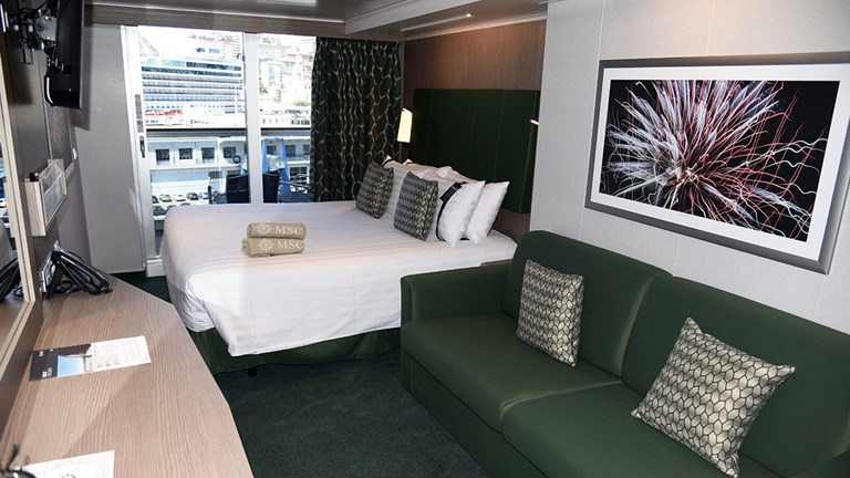 There are a variety of accommodation categories, including balcony staterooms.