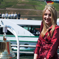 Tauck Savor was christened in Bingen, Germany, a first for the Rhine river town. // © 2014 Mindy Poder
