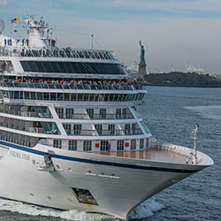 "<p>Viking Star sailed into New York last month, marking ""a new era of possibilities"" for the company, according to Viking's chairman and CEO. // ©..."
