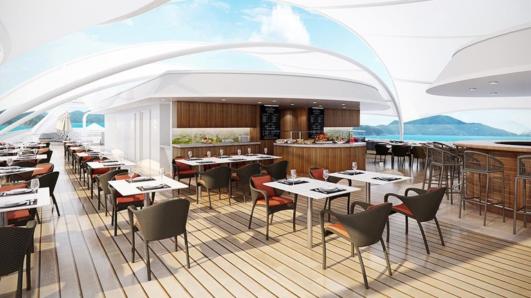 At Star Grill by Steven Raichlen, cruisers can enjoy elevated barbecue offerings and a larger terrace deck.