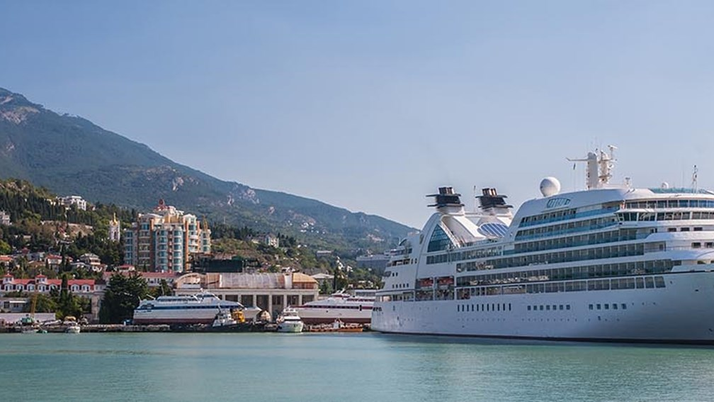 Travel agents want more information about whether cruise itineraries will include the Ukraine this spring, including Yalta shown here. // (c) 2014 Shutterstock/Ryzhkov Alexandr F