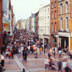 While staying in Dublin, travel agents might wander pedestrian-friendly Grafton Street. // © 2014 Thinkstock