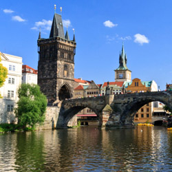 Travelers on this fam trip will tour Prague and stroll across the Charles Bridge. // © 2014 Thinkstock