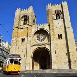 Before heading to Spain, guests on this fam will visit the Cathedral of Lisbon in Portugal. // © 2014 Thinkstock