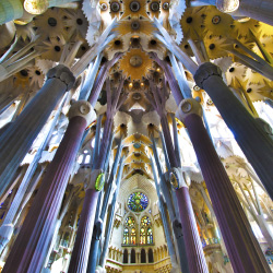 The Sagrada Familia is a must-see; Begur is a village on the coast // © 2014 Thinkstock/ brckylmn