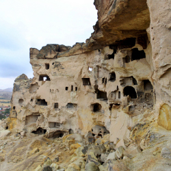 The ancient Cappadocians slept in caves. // © 2014 Fareeha Molvi