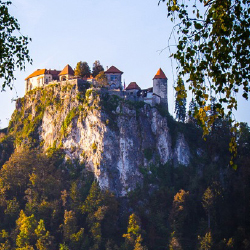 Slovenia's Bled Castle sits on the city's idyllic lake. // © 2014 Devin Galaudet