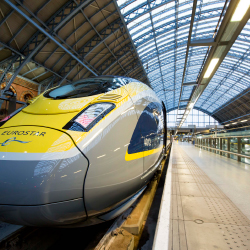 <p>The Eurostar terminal in St. Pancras // © 2016 Eurostar</p><p>Feature image (above): Brussels' La Grand-Place central square, a UNESCO World...
