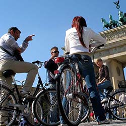 Bike tours are a fun, active way to see the sites in Berlin, from gastronomical delights to historical highlights such as the Berlin Wall. // © 2014...
