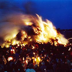 "<p>February's Biikebrennen festival is meant to ""beckon spring"" with its many large bonfires. // © 2016 Gunter Pump</p><p>Feature image (above):..."
