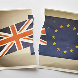 <p>The U.K. voted to exit the European Union on June 23, 2016. // © 2016 iStock</p><p>Feature image (above): The value of the British pound vs. the...