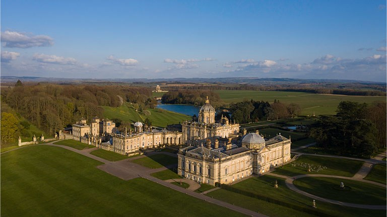 "Exterior shots of Castle Howard in Yorkshire are used in ""Bridgerton."""