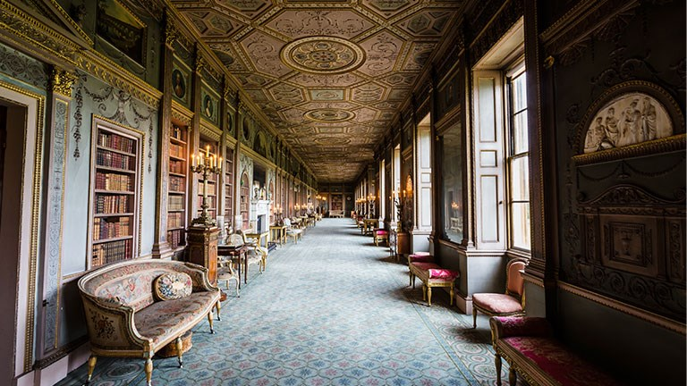 Guests can visit impressive interior spaces at Syon House in Greater London.