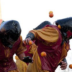 <p>Northern Italy celebrates the Battle of the Oranges during the annual Carnival of Ivrea. // © 2016 Creative Commons user <a...