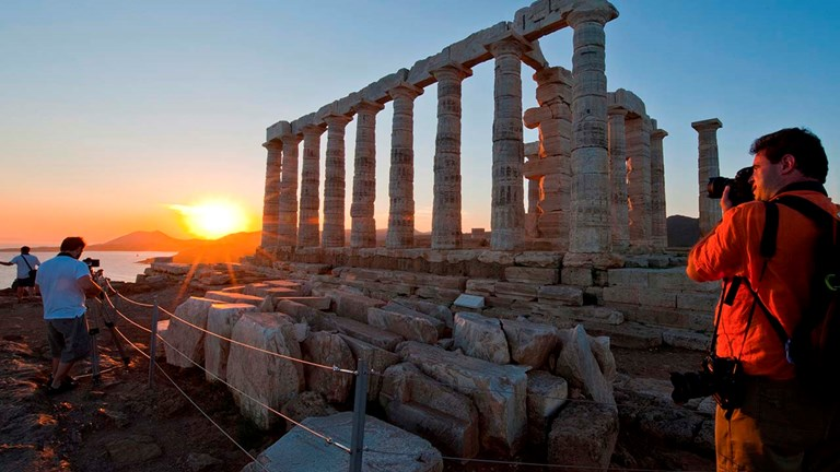 Temple of Poseidon: Greece's many archaeological sites are now open to visitors, including the Temple of Poseidon in Sunio.
