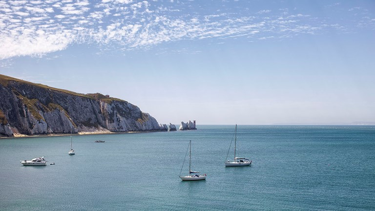 The Needles are a must-see attraction while on the Isle of Wight.
