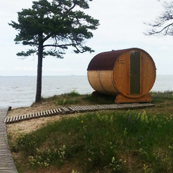 <p>Latvia's iconic barrel campsites offer simple accommodations in scenic, natural settings. // © 2015 Kolkasrags</p><p>Feature image (above): In the...