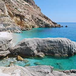 <p>In addition to its stunning setting, the island of Ikaria is known for having a high number of centenarians as its inhabitants. // © 2017 Creative...