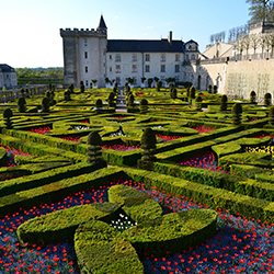 <p>The historic castle at Chateau de Villandry attracts visitors year-round with its intricate gardens. // © 2015 Chateau et Jardins de...