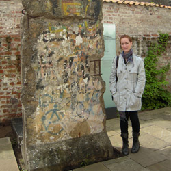 <p>The writer outside of the Willy Brandt Haus museum, where a piece of the Berlin Wall still stands // © 2014 Megan Brickwood</p><p>Feature image...