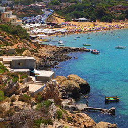 <p>Golden Bay is one of Malta's most popular beach destinations. // © 2015 Visit Malta</p><p>Feature image (above): In the seaside village of...
