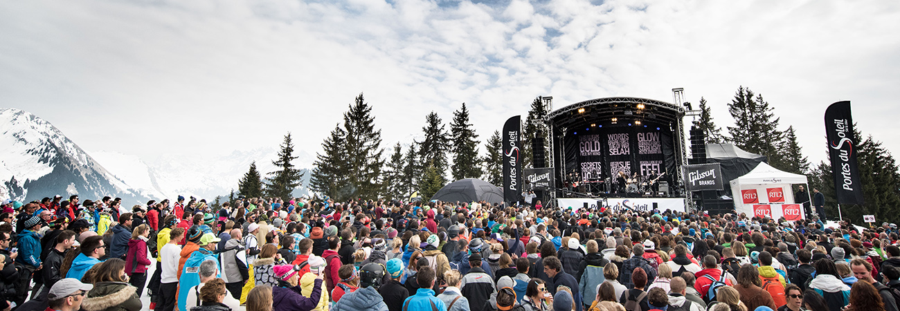 Ski-In and Ski-Out of the Rock the Pistes Festival