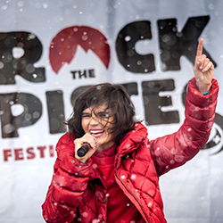 <p>Anyone with a ski pass can get up close to rock stars such as The Do, as they perform for free on the slopes. // © 2015 Portes du...