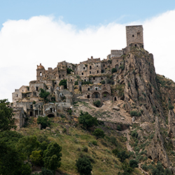 <p>The ghost town of Craco, Italy, is situated in a dramatic location perched on top of a hill. // © Creative Commons user <a...