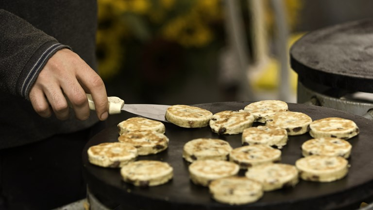 Welsh cakes are a popular treat in Wales.