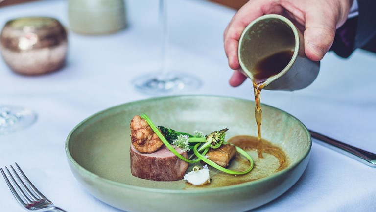 Fine dining restaurant Hudsons by Craig Atchinson offers two multicourse tasting menus.