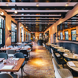 <p>The Dylan recently opened Bar Brasserie OCCO, which serves food and drinks all day. // © 2016 The Dylan</p><p>Feature image (above): No two rooms...