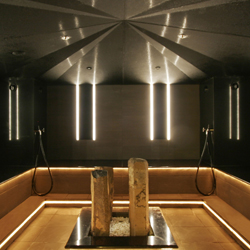 <p>Relaxing in the spa's Salt Inhalation Steam Bath is thought to improve circulation. // © 2014 Richmond Nua Wellness Spa</p><p>Feature image...