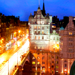 <p>View of Edinburgh from The Scotsman // © 2015 The Scotsman Hotel</p><p>Feature image (above): The George Hotel // © 2015 The George Hotel</p>