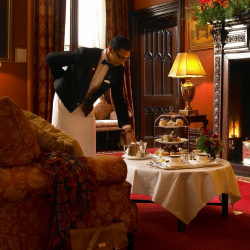 <p>Guests may enjoy traditional afternoon tea service in The Gallery. // © 2015 Dromoland Castle</p><p>Feature image (above): The on-site Earl of...