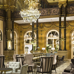 <p>Upon entering the newly renovated hotel, Hilton Paris Opera's Grand Salon is a stunning sight to see. // © 2015 Hilton Paris Opera</p><p>Feature...