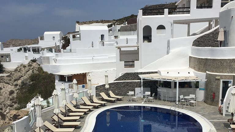 Volcano View hotel is located in Santorini's capital of Fira.