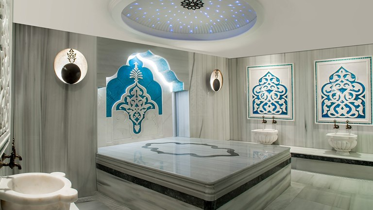 In addition to traditional treatments, Allure Spa features a hammam.