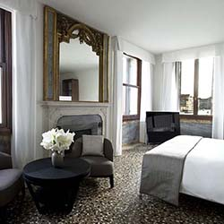 <p>Aman Venice's 24 suites, many with canal views, feature an elegant blend of the past and present. // © 2016 Aman Venice</p><p>Feature image...