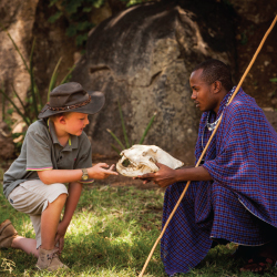 Young guests at Four Seasons Safari Lodge Serengeti can join research projects and learn Swahili. // © 2014 Four Seasons