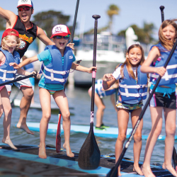 Learn to paddleboard in Newport Beach. // © 2014 Pirate Coast Paddle Co.