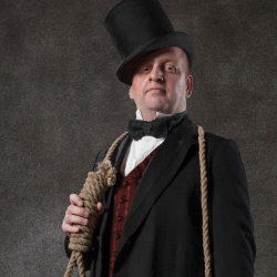 Judge Meade is one of many characters in this theatrical attraction. // © 2014 The San Francisco Dungeon